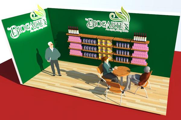 Quầy triển lãm BIOGATEN tại Food Expo