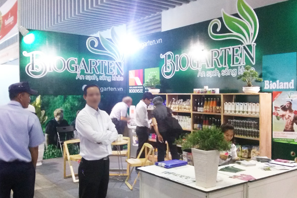 Thi công quầy triển lãm BioGarten – tại Foods Expo 2015